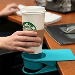 사무실 책상 테이블 집게형 컵 홀더