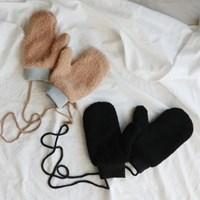 뽀글이 양털 벙어리 장갑