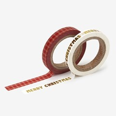 Masking tape christmas - 01 Merry christmas