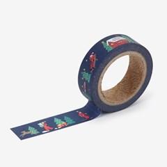 Masking tape christmas - 06 Santa town