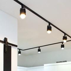 뉴 원통 스포트 3등 레일형 세트 (LED겸용/카페조명/포_(1710935)