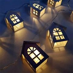따뜻한 하얀집 LED 조명 가랜드