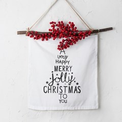 크리스마스 패브릭 포스터 베리 가랜더 타이포트리_(1798611)
