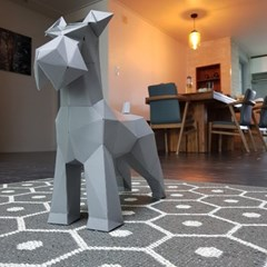 [톰텐]페이퍼크래프트 슈나우져 Papercraft Schnauzer