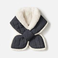 [워터팩토리] padding fur muffler - gray indigo