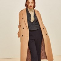 WOOL PORT DOUBLE COAT BEIGE