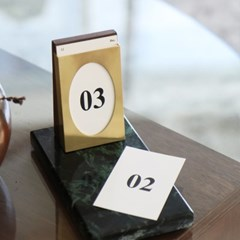 calendar _ on the table (deep green)
