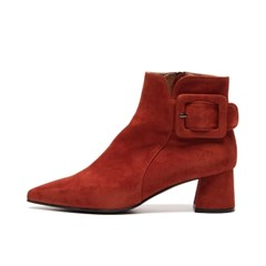 Pointed ankle boots Brick red_5cm (양가죽)