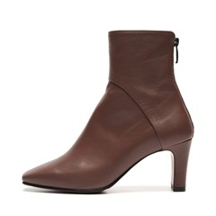 Square Line ankle boots Red brown