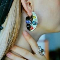 Palette Snowball Earrings1