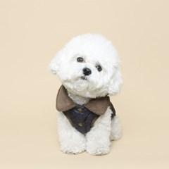 강아지 퀼팅 베스트 - 네이비