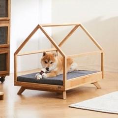 해빗 원목 펫 하우스 강아지집 고양이집 텐트
