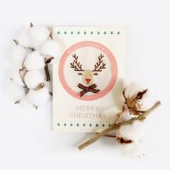 (혜화) 빨간 코 루돌프, 크리스마스 자수 카드