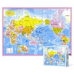 500피스 직소퍼즐 - 머리에 쏙쏙 세계 지도 (한글판)