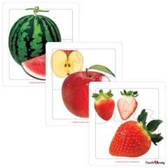 3 4 5조각 판퍼즐 - 달콤한 과일 (3종)
