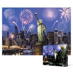 1000피스 직소퍼즐 - 뉴욕 맨하탄의 불꽃놀이 (야광)