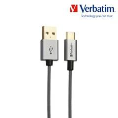 케이블 메탈릭 Type-USB A to C 2.0 120cm 그레이