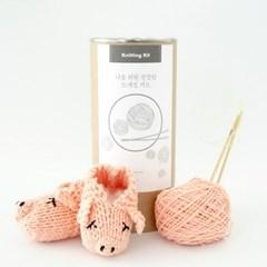 [2019 돼지띠 아기를 위한] 니팅키트- 신생아 돼지 덧신