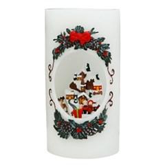 [adico] 크리스마스 LED 캔들 - 산타클로스