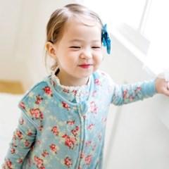 [극세사]민트플라워 극세사수면조끼 유아수면조끼 아동수면조끼