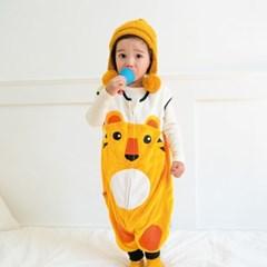 [극세사]ZOO_호랑이 극세사수면조끼 유아수면조끼 아동수면조끼