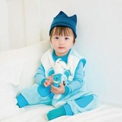[극세사]ZOO_베어 극세사수면조끼 유아수면조끼 아동수면조끼