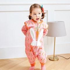 캐럿바니슬립색 유아수면조끼 아동수면조끼