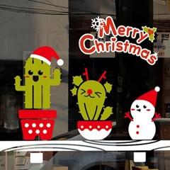 크리스마스시트지_선반위의 선인장 친구들_(860941)