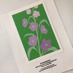 delphinium postcard (델피늄)