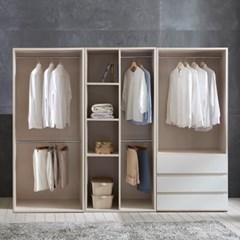 피카 오픈 드레스룸 2400세트 D(옷장+수납옷장+3단서랍_(2001814)