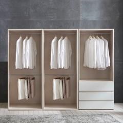 피카 오픈 드레스룸 2400세트 E(옷장+옷장+3단서랍장)_(2001813)