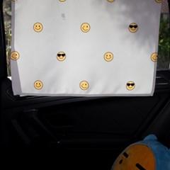 리틀 스마일 차량용 햇빛가리개/다용도가리개커튼