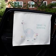 코끼리 차량용 햇빛가리개/다용도가리개커튼