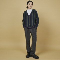 v-neck stripe cardigan - UNISEX_(1095199)