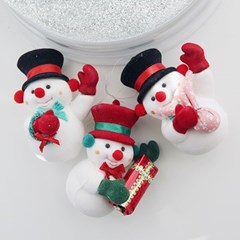 Gift Snow Man Ornament