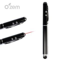 [Ozem] LED램프 및 레이저 터치펜(블랙)