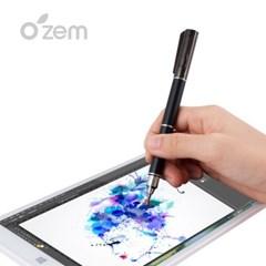 [Ozem] 전문가용 크로스 터치펜 2in1(블랙)