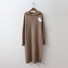 Hoega Cashmere N Wool Hood Long Dress