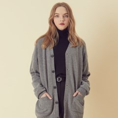 [아르테노] Cash Oversize Cardigan - Grey