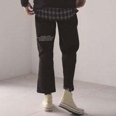 (UNISEX)MO COTTON PANTS(BLACK)_(3919242)