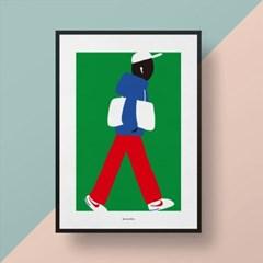 유니크 인테리어 디자인 포스터 M 오디너리 피플