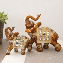 다이아장식 브라운 코끼리 2p set(2size)_(1422479)