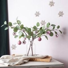 크리스마스 인테리어 소품 조화 핑크 펄 유칼리 트리 화_(1817201)
