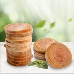 편백 나무 생나무 통나무 통슬라이스블럭