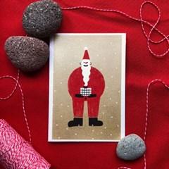 산타 핸드메이드 카드 (실크)