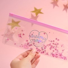 Pinky holic clear pouch_P_10.Glitter_ LOVE♥LOVE