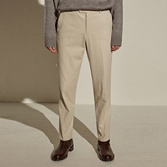 COTTON TAPERED-FIT PANTS_IVORY