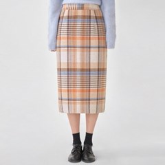 ere vintage wool check skirt (s, m)_(1098953)