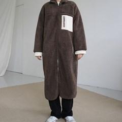Reversible fleece long jumper