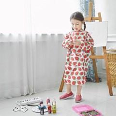 베베누보 유아용 앞치마 미술가운_밀크베리